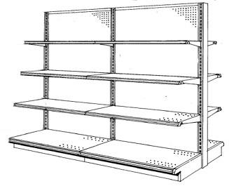 Double Sided Gondola Island Shelving Pricing