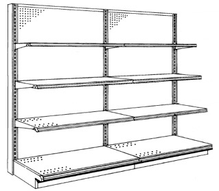 Single Sided Half Gondola Wall Shelving Pricing